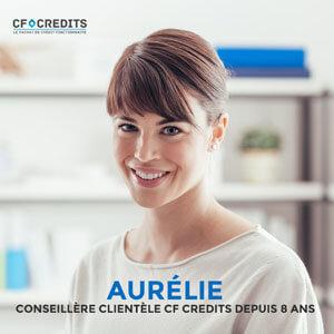 Aurélie, conseillère clientèle CF Crédits