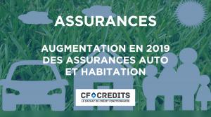 Augmentation en 2019 des assurances auto et habitation