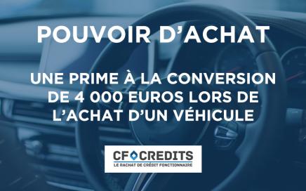Une prime à la conversion de 4 000 euros lors de l'achat d'un véhicule