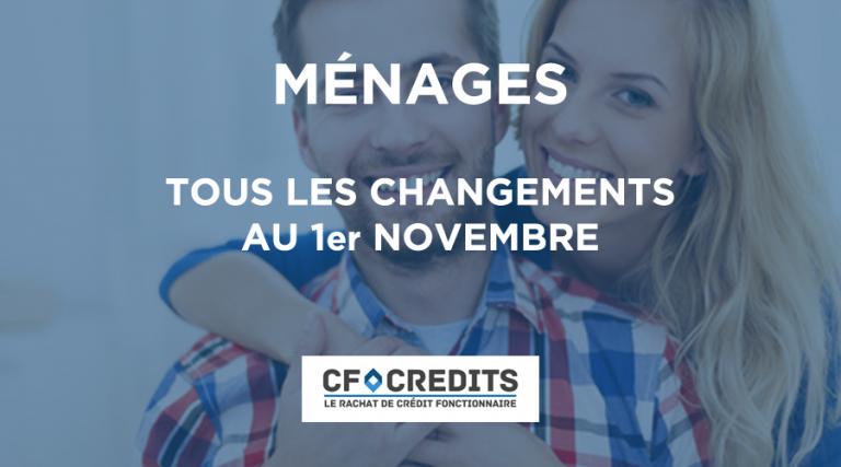 Tous les changements au 1er novembre
